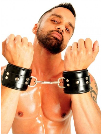 Fist Leather Wrist Cuffs •Black