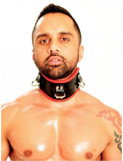Fist Posture Collar • Black/Red