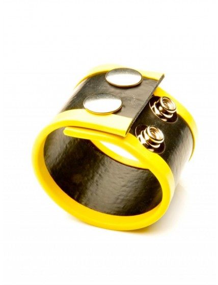 SMALL RUBBER BALL STRETCHER•YELLOW