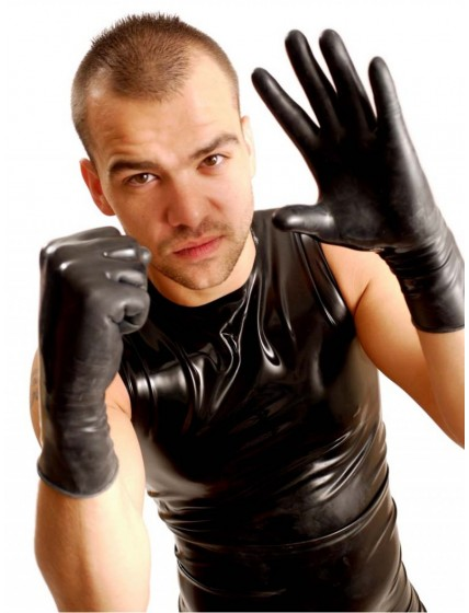 Wrist Rubber Gloves • Black