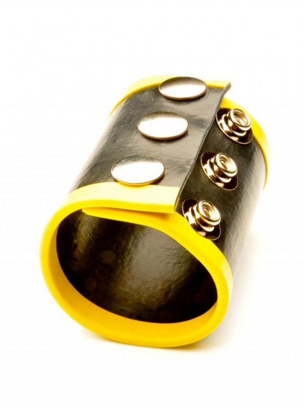 Large Rubber Ball Stretcher • Yellow