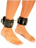 Fist Leather Ankle Cuffs • Black