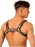 Leather Chest Harness • Camo-Red