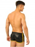 Leather Shorts • Black - Yellow